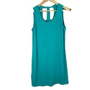 Skies are Blue Shift Dress Teal M NWT